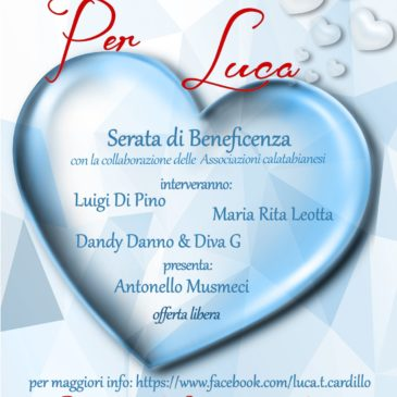 Serata di beneficenza per Luca