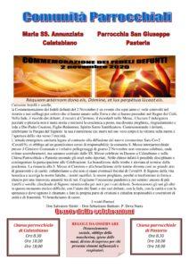 Commemorazione dei fedeli defunti @ Parrocchia San Giuseppe di Pasteria | Pasteria-Lapide | Sicilia | Italia