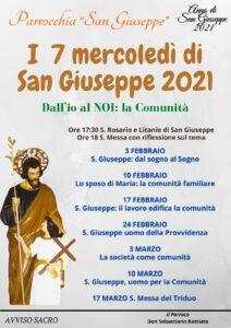 I 7 mercoledì di San Giuseppe 2021 @ Parrocchia San Giuseppe di Pasteria | Pasteria-Lapide | Sicilia | Italia