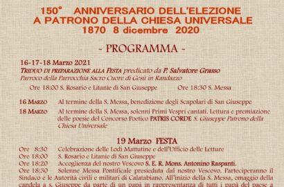 150°anniversario dell'elezioni a patrono della chiesa universale